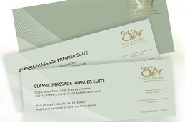 The Spa Gift Certificates